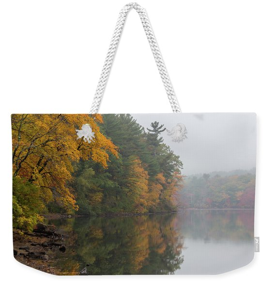 Fall Foliage In The Fog Weekender Tote Bag