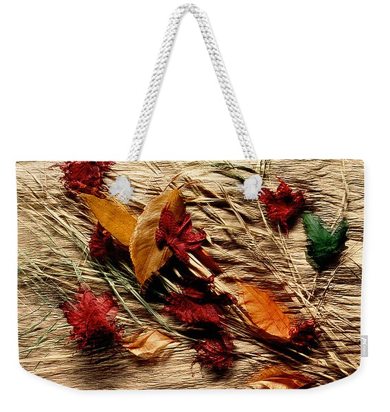 Fall Foliage Still Life Weekender Tote Bag