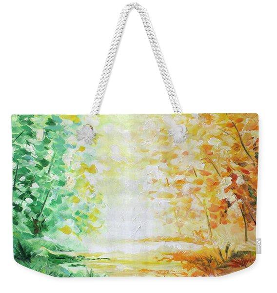 Fall Glow Weekender Tote Bag