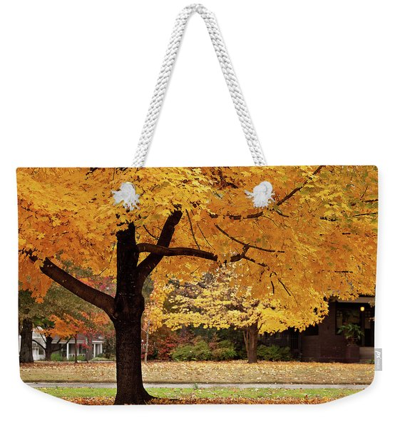 Fall In Downtown Conway Weekender Tote Bag