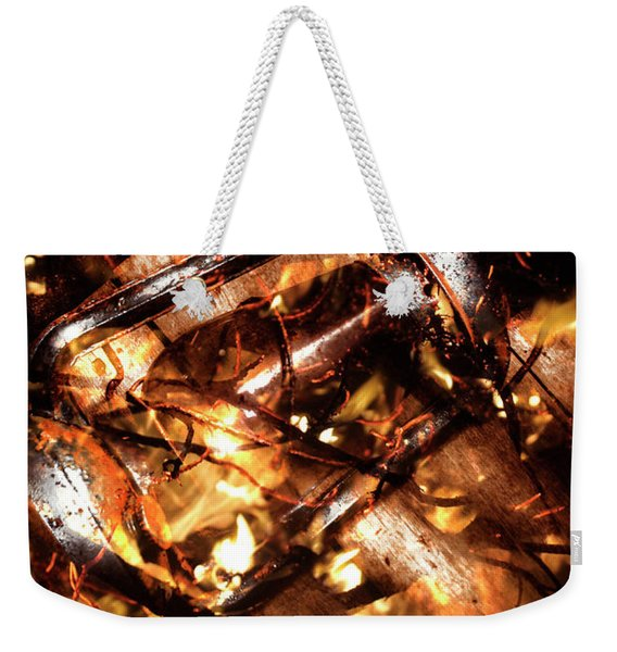 Fall In Fire Weekender Tote Bag