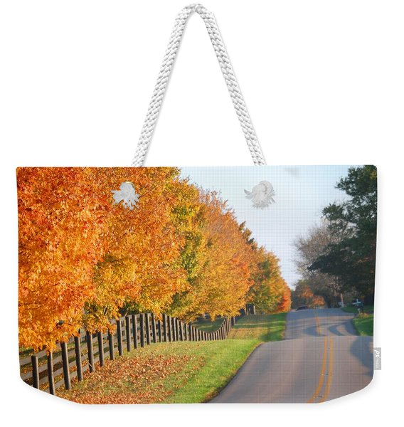Fall In Horse Farm Country Weekender Tote Bag