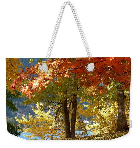 Fall In Kaloya Park 4 Weekender Tote Bag