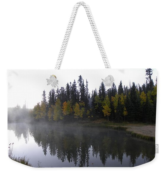 Weekender Tote Bag featuring the photograph Kiddie Pond Fall Colors Divide Co by Margarethe Binkley