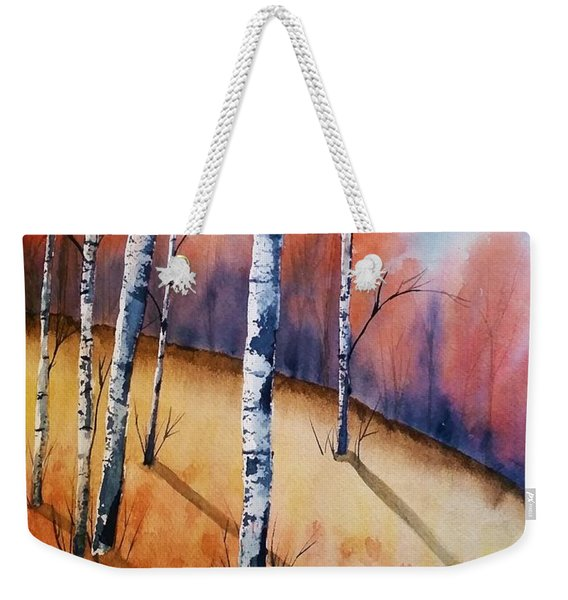 Fall In The Birches Weekender Tote Bag