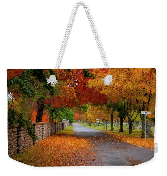 Fall In The Cemetery Weekender Tote Bag