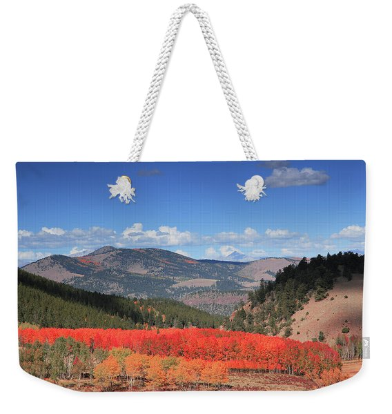 Fall In  Ute Trail  Weekender Tote Bag