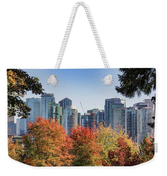 Fall In Vancouver Weekender Tote Bag