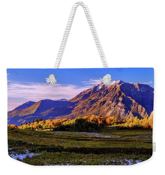 Fall Meadow Weekender Tote Bag