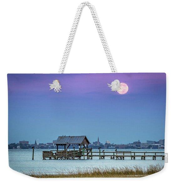 Fall Moon And King Tide - Charleston Sc Weekender Tote Bag