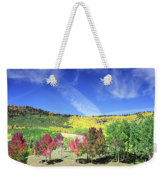 Fall On County Road 12 Weekender Tote Bag
