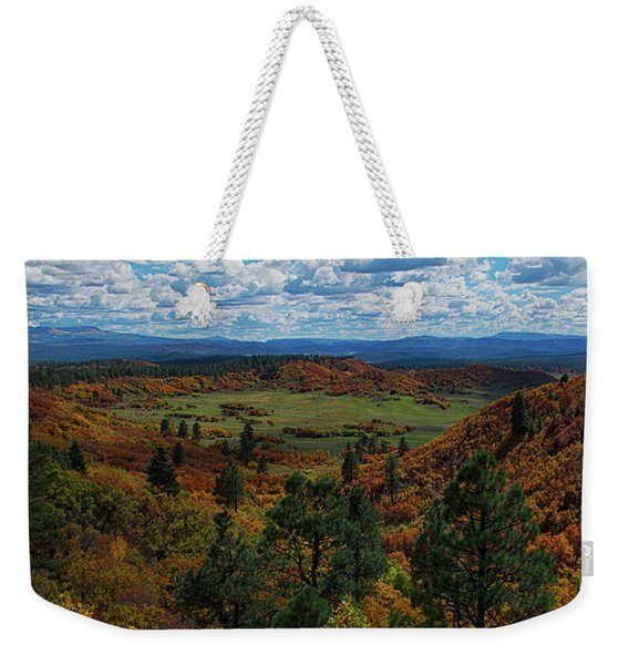 Weekender Tote Bag featuring the photograph Fall On Four Mile Road by Jason Coward
