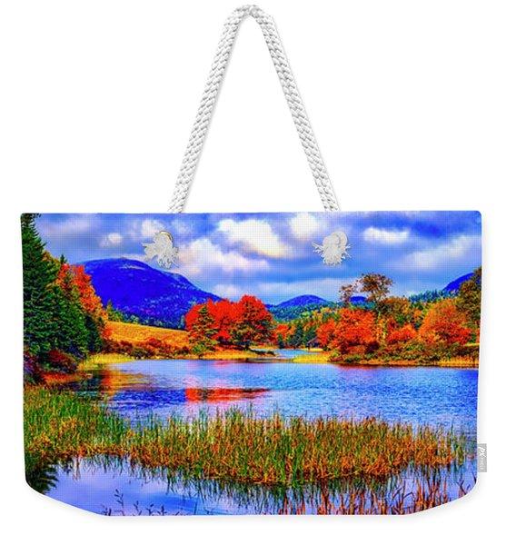 Fall On Long Pond Acadia National Park Maine  Weekender Tote Bag