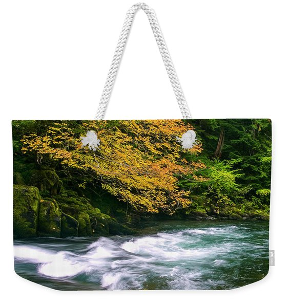 Fall On The Clackamas River, Or Weekender Tote Bag