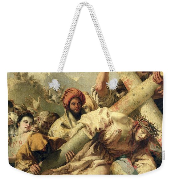 Fall On The Way To Calvary Weekender Tote Bag