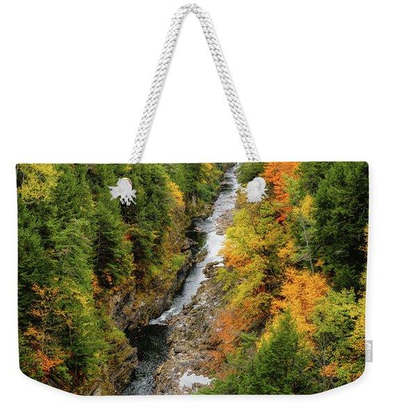 Fall Quechee Gorge, Vt Weekender Tote Bag