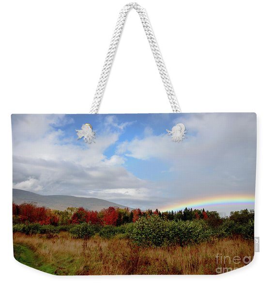 Fall Rainbow Weekender Tote Bag