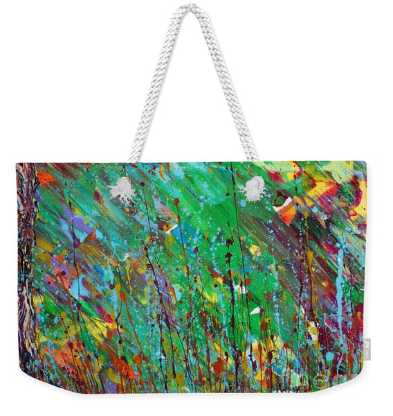 Weekender Tote Bag featuring the painting Fall Revival by Jacqueline Athmann