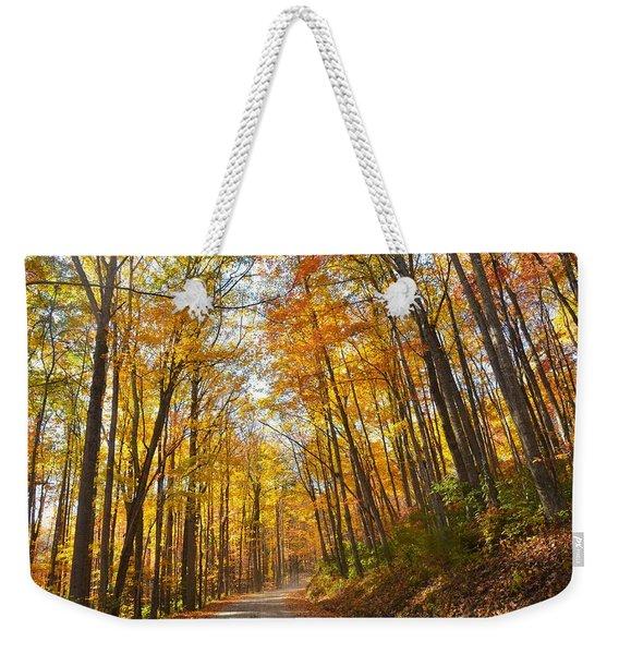Fall Road Weekender Tote Bag