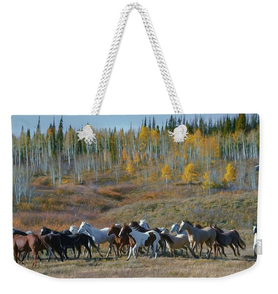 Fall Run Weekender Tote Bag