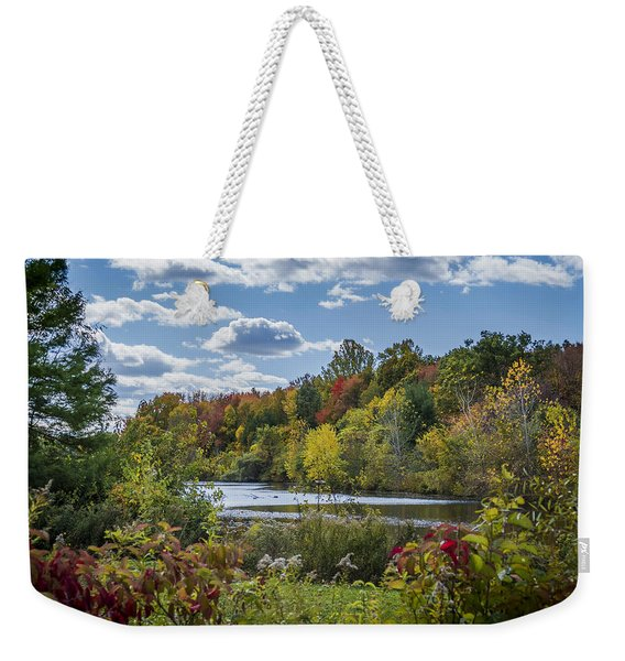 Fall Time On The Lake Weekender Tote Bag