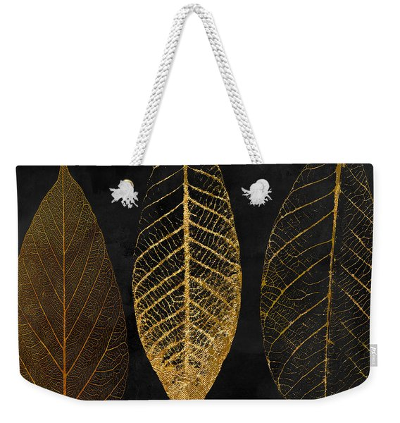 Fallen Gold II Autumn Leaves Weekender Tote Bag