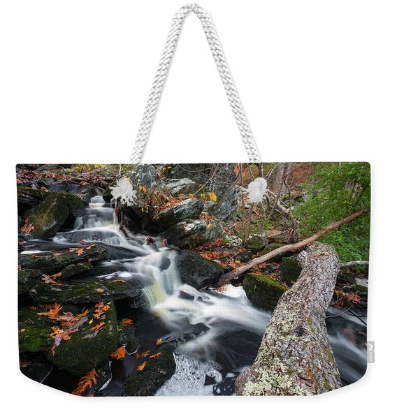 Fallen In Danforth Falls Weekender Tote Bag