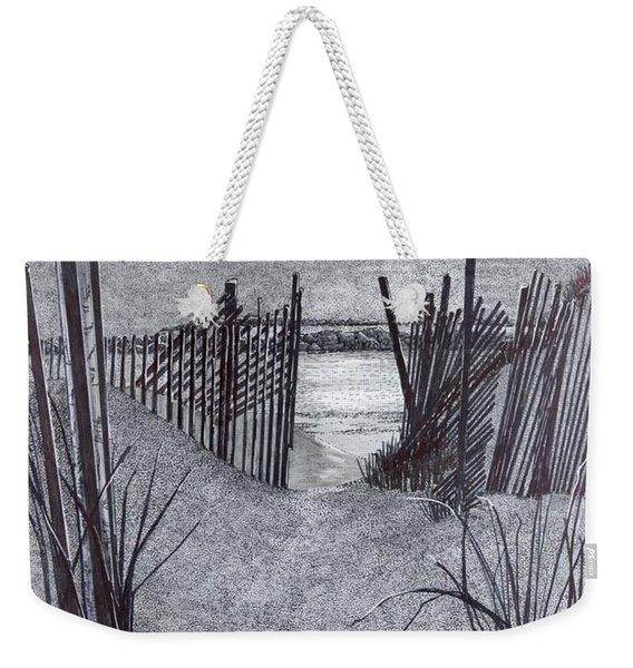 Falling Fence Weekender Tote Bag