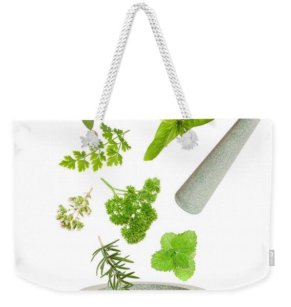 Falling Herbs Weekender Tote Bag