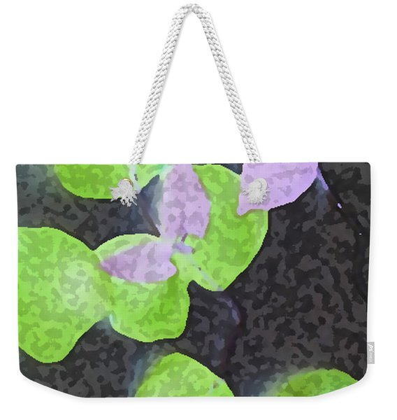 Weekender Tote Bag featuring the mixed media Falling Leaves by Writermore Arts