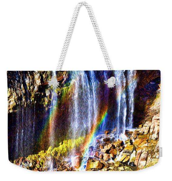 Falling Rainbows Weekender Tote Bag