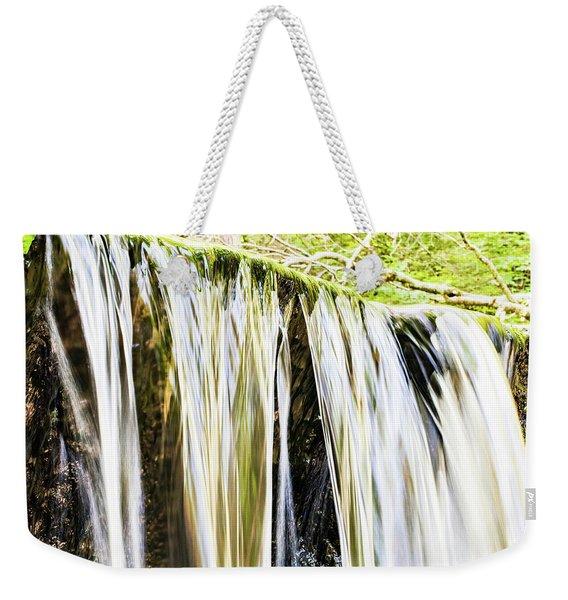 Falling Water Mirror Weekender Tote Bag