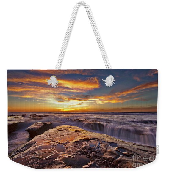 Weekender Tote Bag featuring the photograph Falling Water by Sam Antonio Photography