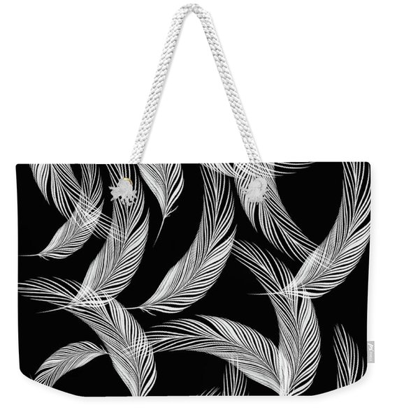 Falling White Feathers Weekender Tote Bag