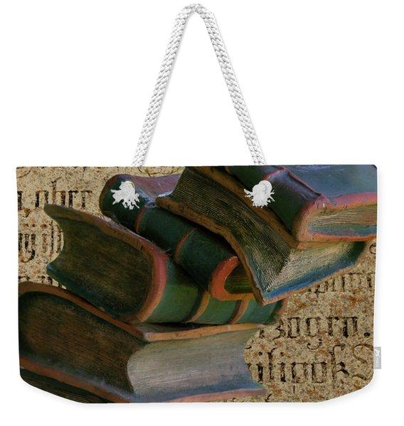 Falling Wisdom Weekender Tote Bag