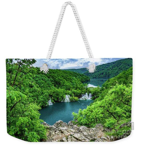 Falls From Above - Plitvice Lakes National Park, Croatia Weekender Tote Bag