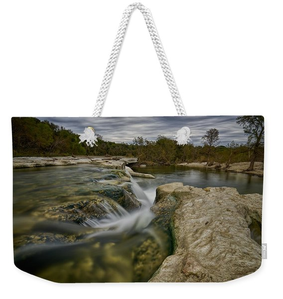 Texas Hill Country Falls Weekender Tote Bag