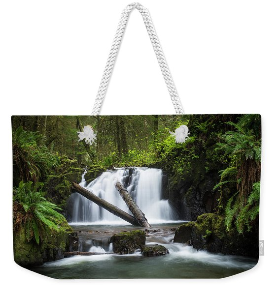 Falls On Canyon Creek Weekender Tote Bag