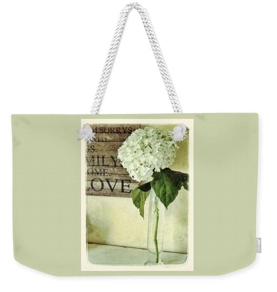 Family, Home, Love Weekender Tote Bag