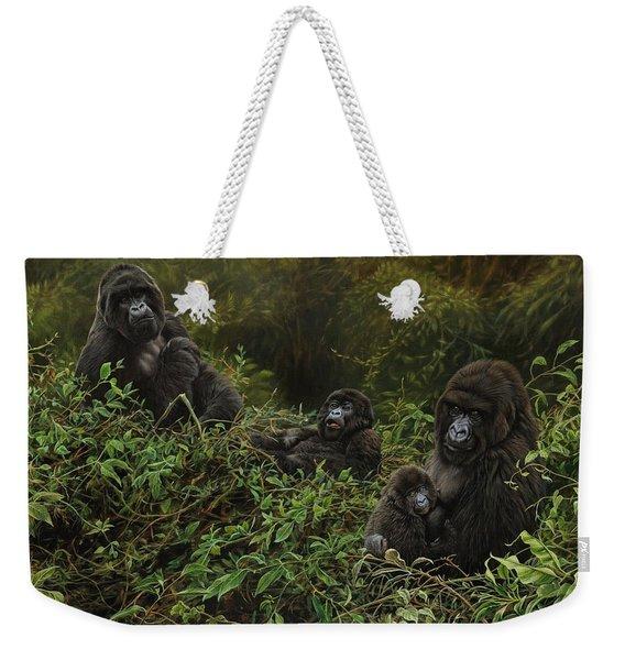 Family Of Gorillas Weekender Tote Bag