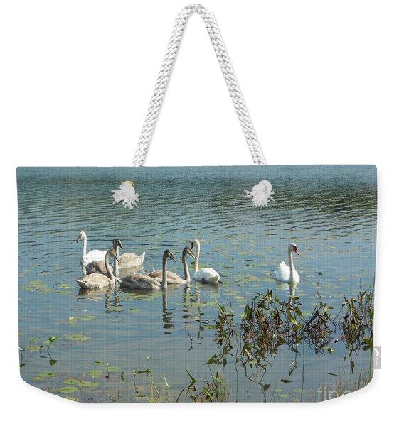 Family Of Swans Weekender Tote Bag