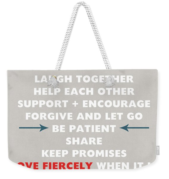Family Rules Weekender Tote Bag