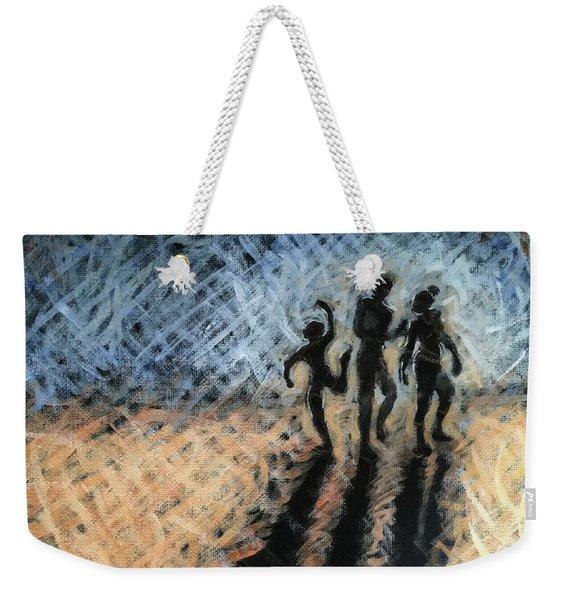 Family Walking Weekender Tote Bag
