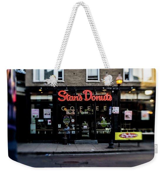 Famous Chicago Donut Shop Weekender Tote Bag