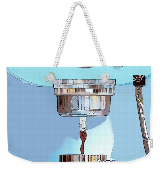 Weekender Tote Bag featuring the painting Fantasy Espresso Machine by Marian Cates