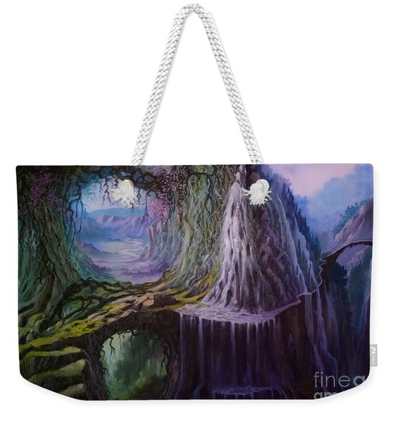 Weekender Tote Bag featuring the painting Fantasy Land by Rosario Piazza