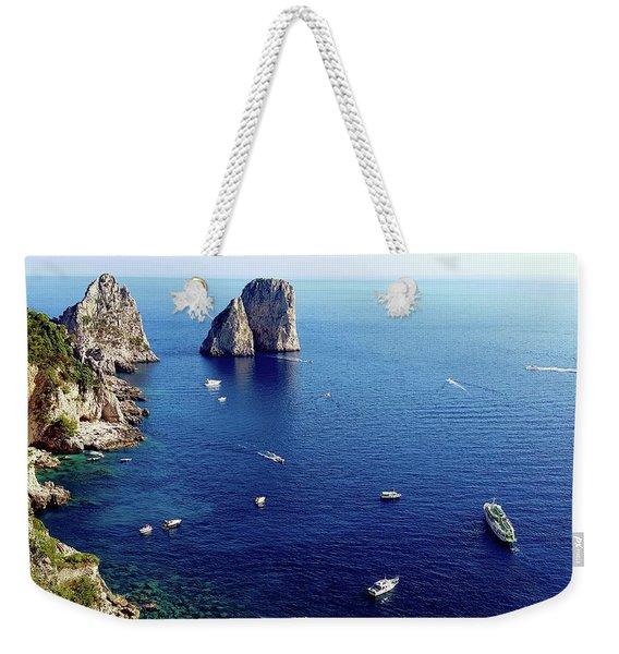 Faraglioni Rocks, Isle Of Capri Weekender Tote Bag