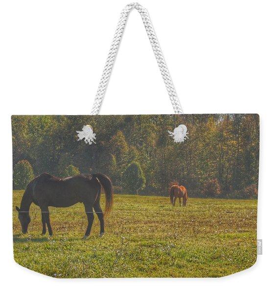 1012 - Fargo Road Horses I Weekender Tote Bag