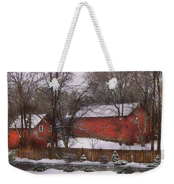 Farm - Barn - Winter In The Country  Weekender Tote Bag