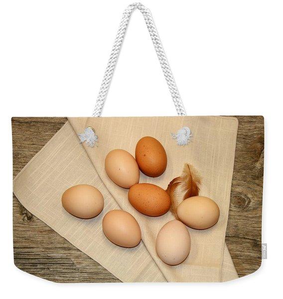 Farm Fresh Eggs Weekender Tote Bag